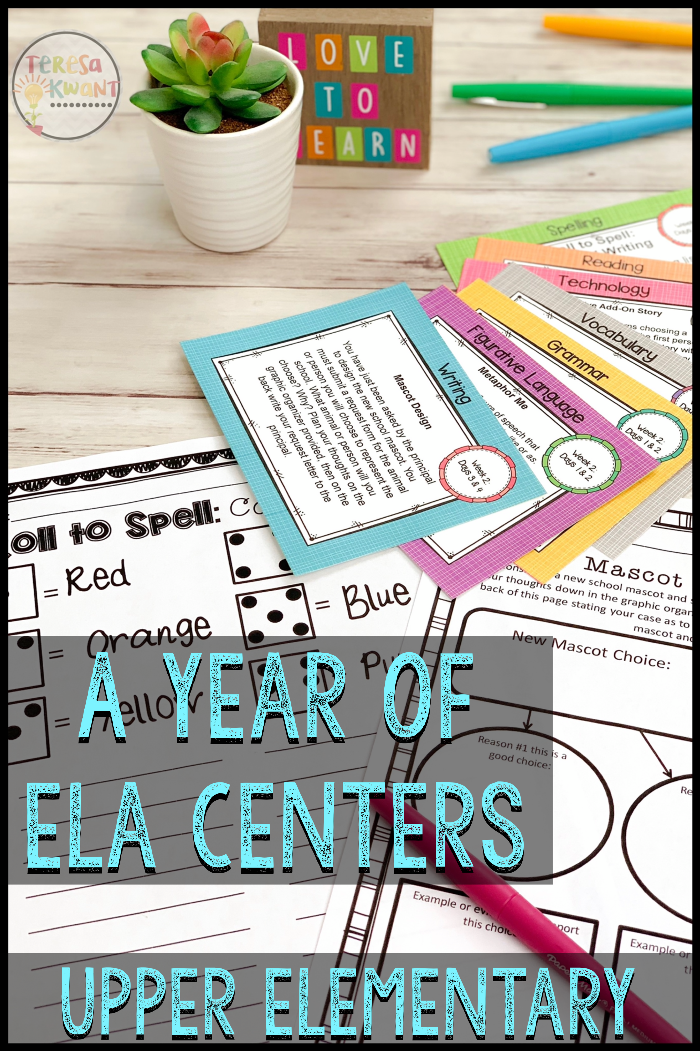 Literacy Centers for Upper Elementary #preschoolclassroomsetup Literacy Centers for Upper Elementary
