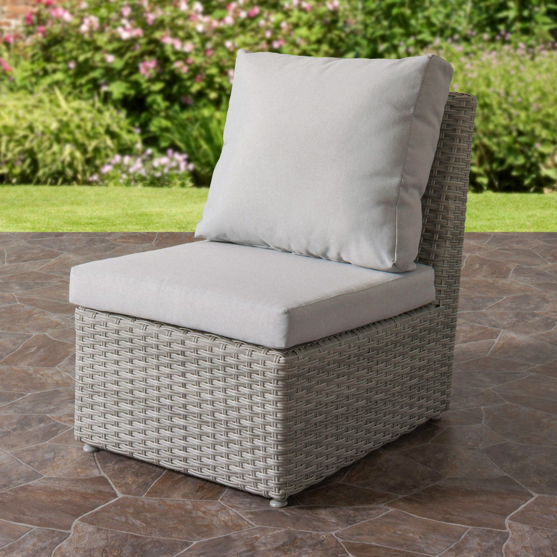 Outdoor CorLiving Brisbane Weather Resistant Resin Wicker Armless Patio  Chair   PCL 236 M