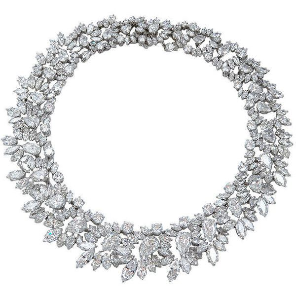 1STDIBS.COM Jewelry & Watches - Harry Winston - Highly Important HARRY... ❤ liked on Polyvore featuring jewelry, necklaces, antique necklaces, harry winston necklace, platinum diamond necklace, platinum jewellery and antique platinum jewelry