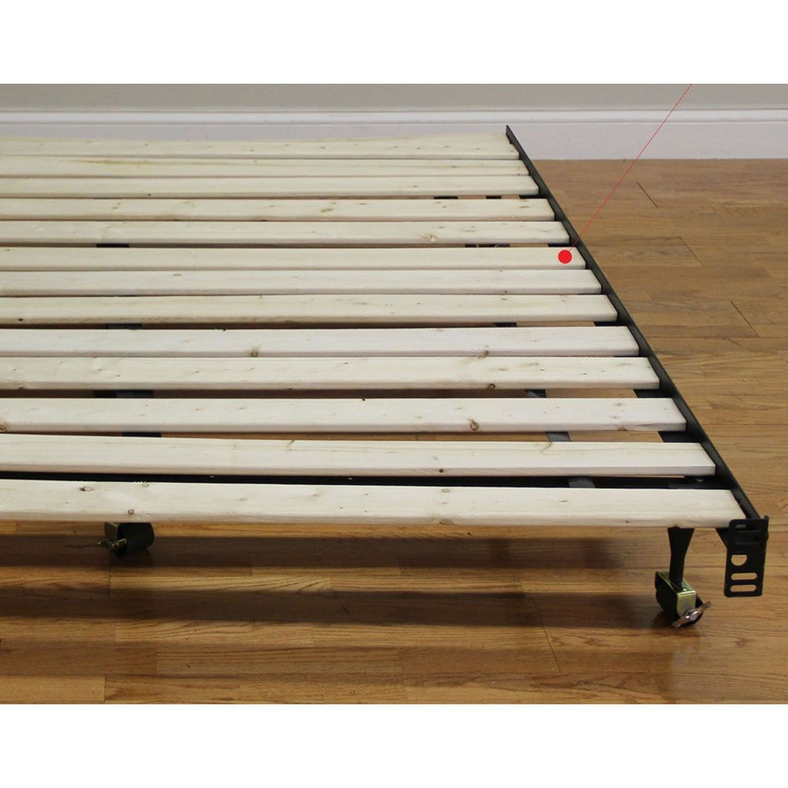 Full size solid wood bed slats made in usa metal bed