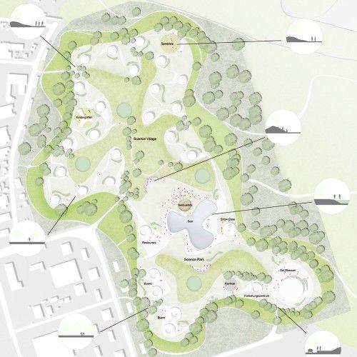 Europan 11 Proposal Science Park Yankang Wang Shuyan Wang Yuan Lin Jingrong Zhong Science Park Parking Design Urban Design Plan