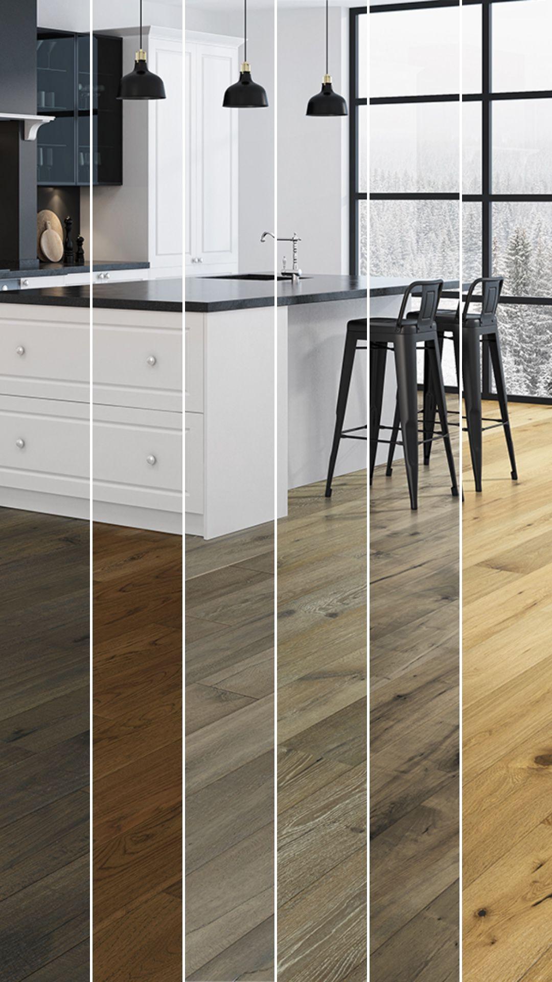 one kitchen six different hardwood floors  hardwood