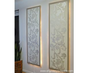 How to make lighted floating wall panels aloadofball Image collections