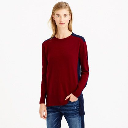 JCrew Colorblock sweater tunic Found on my new favorite app Dote ...