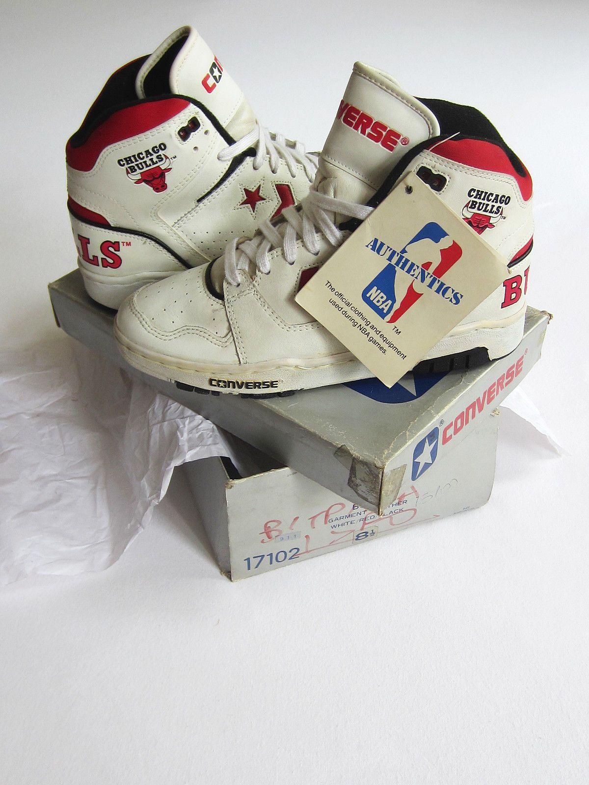 Converse Chicago Bulls Hi 1990 NBA New Tag Box OG Vintage Deadstock Cons Jordan | eBay