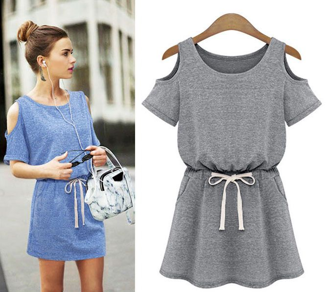 Fashion Women Summer New 2014 Colored Cotton Short Sleeve Slim Casual Saias Femininas Novidades Vestidos Sheer One-piece Dresses $17.58