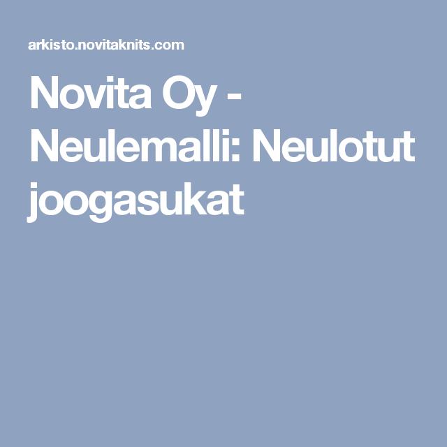 Novita Oy - Neulemalli: Neulotut joogasukat