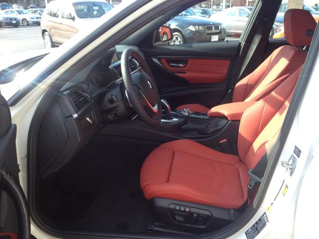 Bmw Of Towson >> 2013 BMW 3 Series (SPORT LINE): Alpine White exterior, Coral Red Dakota Leather, Anthracite Wood ...