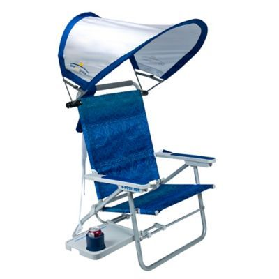 Big Surf Beach Chair With Sunshade And Slide Table Blue