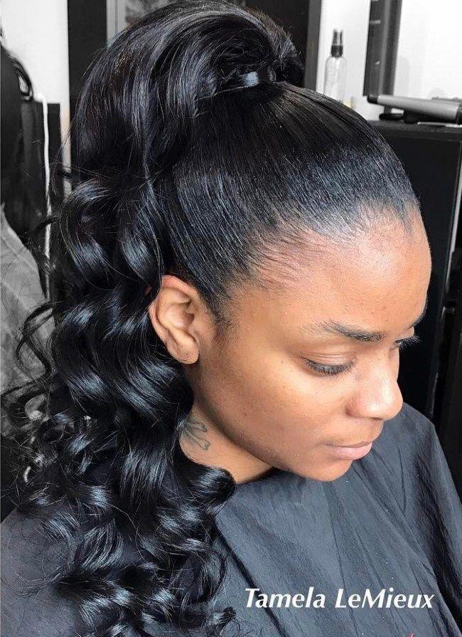 30 Classy Black Ponytail Hairstyles In 2019 Hair Ponytail