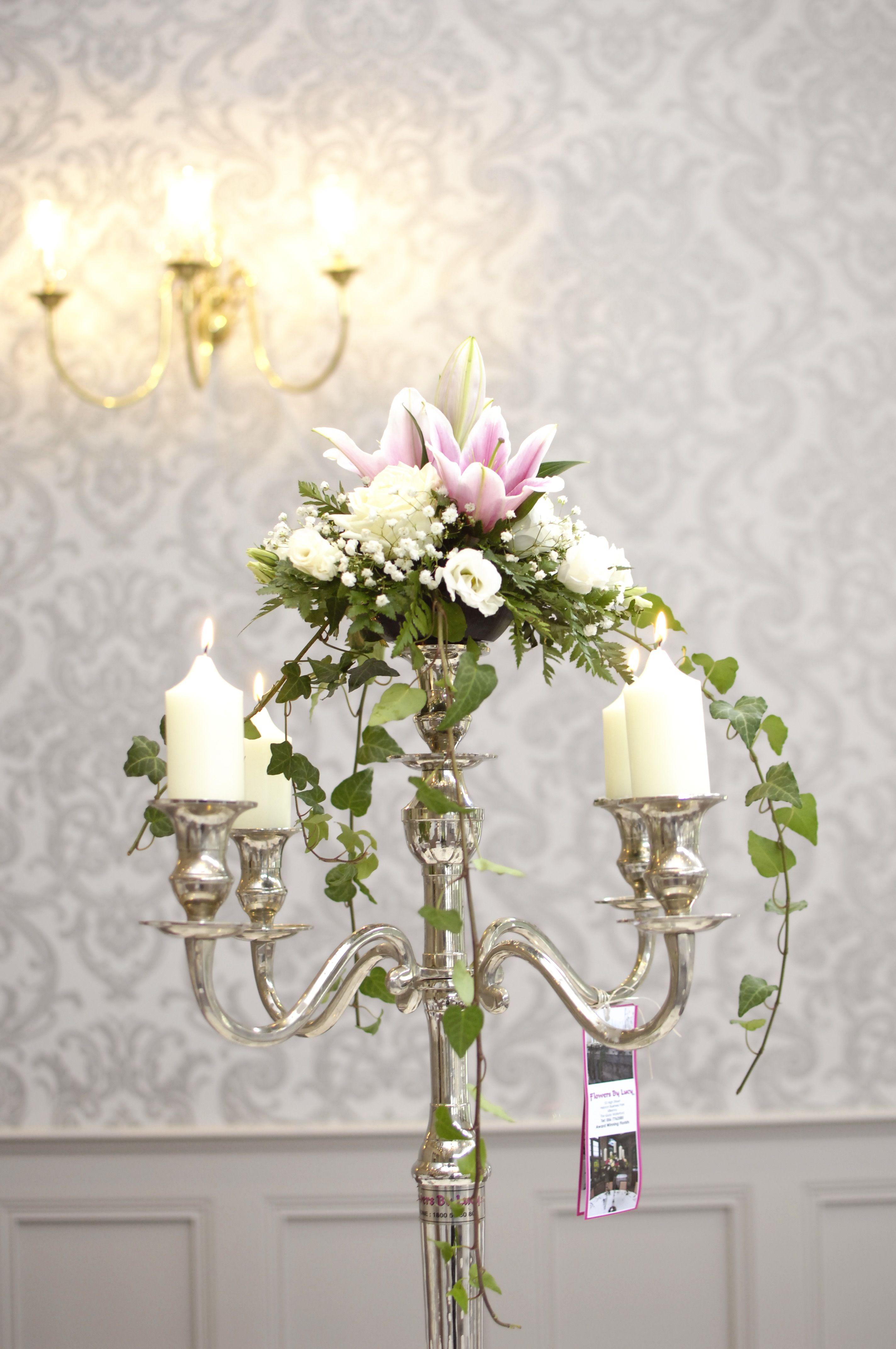 Ivy candelabra centrepiece   Faithlegg Wedding Table Decor Ideas ...