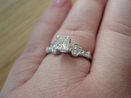 look at the hidden mickey ring my fdh picked out for me - Mickey Mouse Wedding Ring