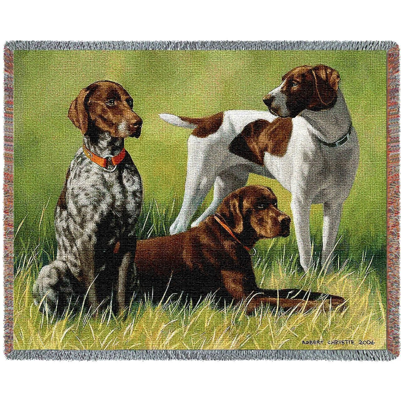 Variations on a Dog Breed Art Tapestry Throw