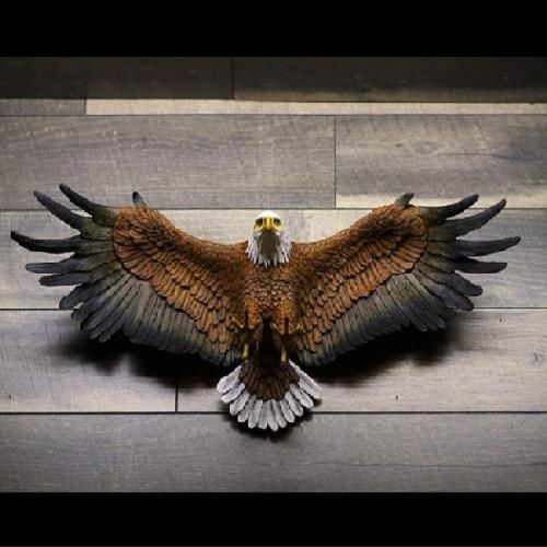 """Freedom/'s Pride American Eagle Hand Painted Design Toscano 31/"""" Wall Sculpture"""