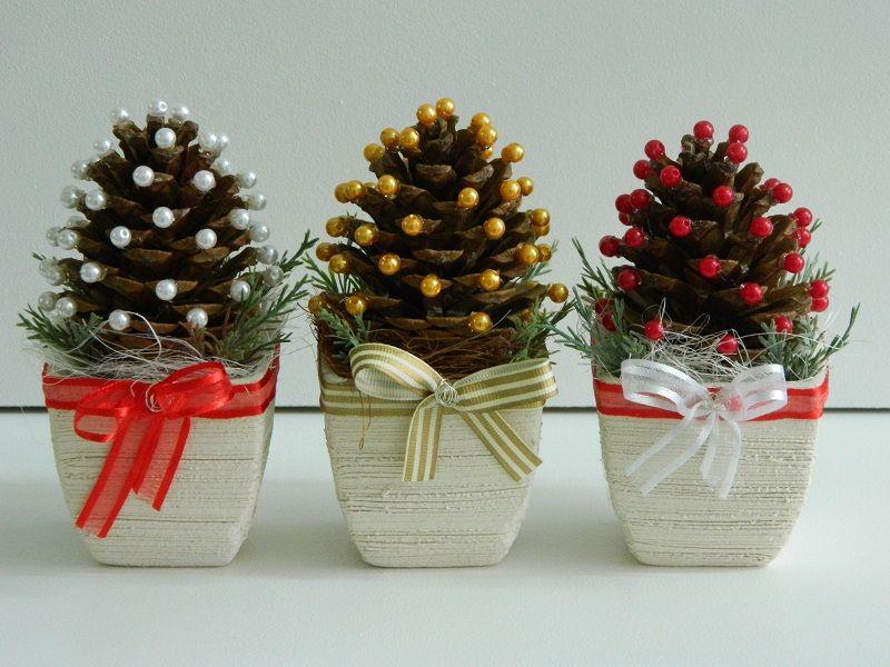 Kompozycja Szyszka Choinka Stroik Boze Narodzenie Christmas Crafts Xmas Crafts Christmas Crafts Diy