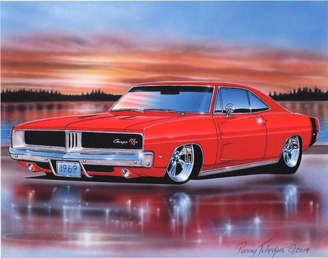 Plymouth Hemi Belvedere Ii Muscle Car Art Print Black