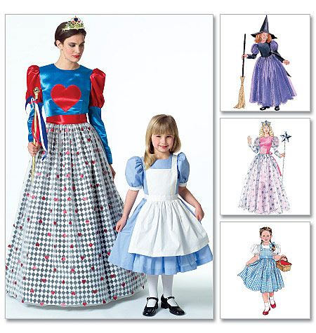 Misseschildrens Girls Costumes Alice In Wonderland Witch