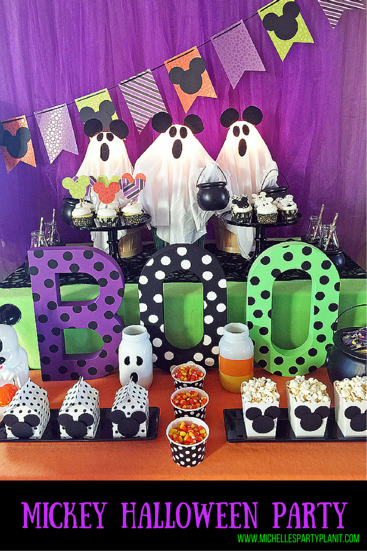 Trick Or Treat A Mickey Halloween Party Michelle S Party Plan It Mickey Halloween Party Mickey Halloween Birthday Halloween Party
