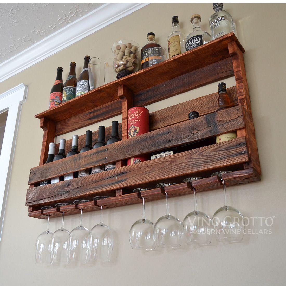 exclusive reclaimed pallet wood wine rack easily mounts to. Black Bedroom Furniture Sets. Home Design Ideas