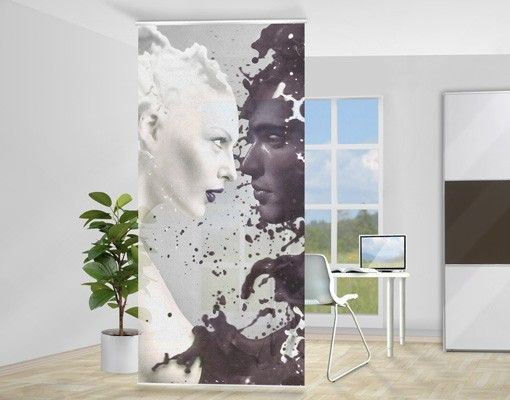 raumteiler milk coffee 250x120cm raumteiler vorhang schiebevorhang und raumteiler. Black Bedroom Furniture Sets. Home Design Ideas