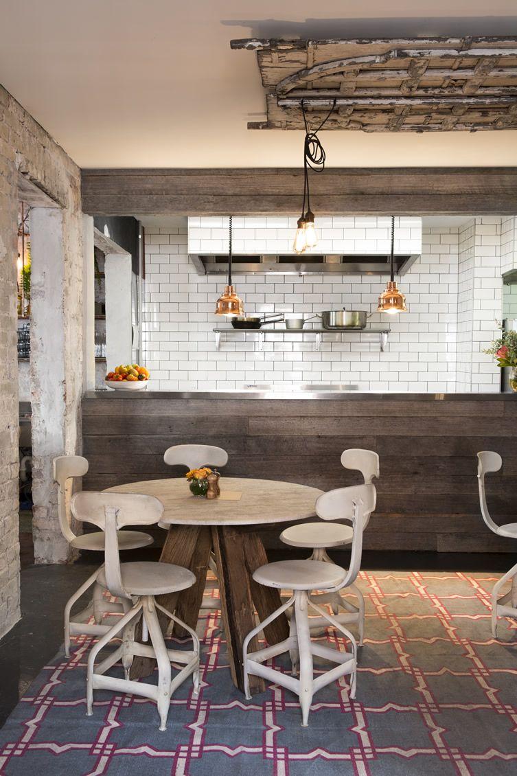 Guia Design Um Restaurante Com Ares Fabris E Estética Vintage E - Fliesen für restaurant küche