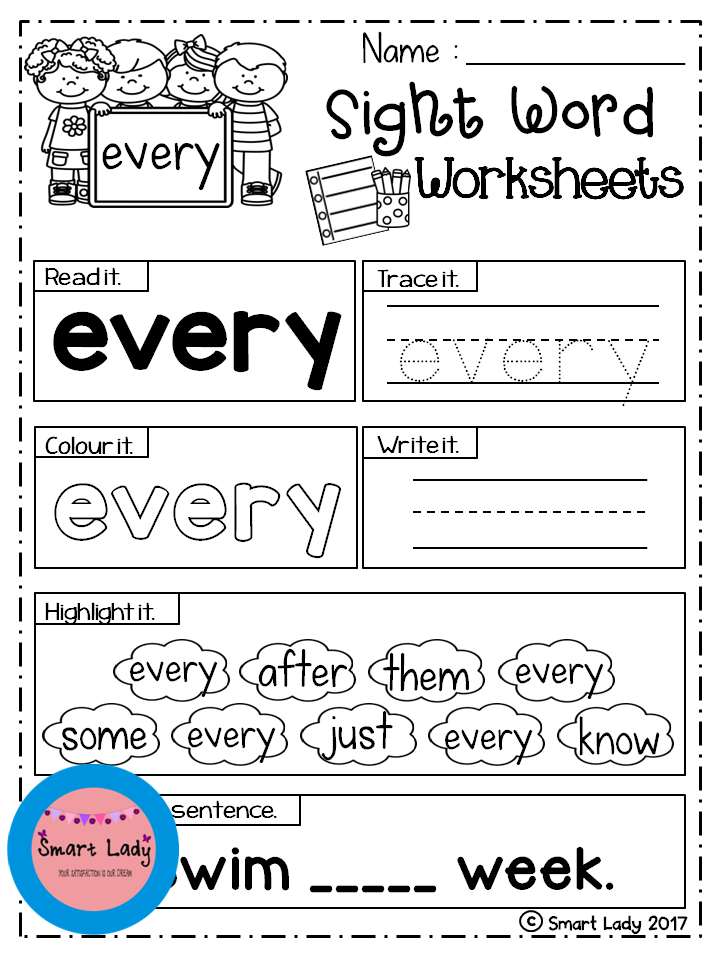 Sight Word Worksheets First Grade – Sight Word Worksheets First Grade