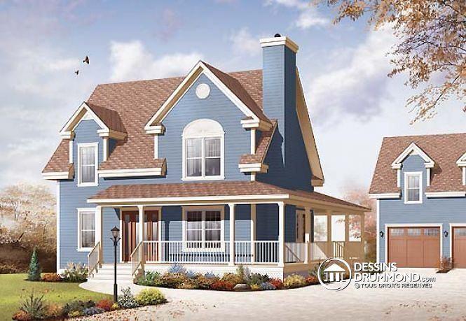 W2590-V1 - 3 grandes chambres, style champêtre, bureau à domicile