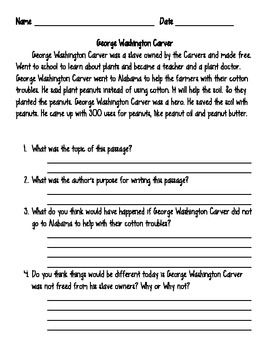 Proposal Essay Topic This Worksheet Would Be Perfect For Our Unit When We Discuss Historys  Hero George Washington Carver It Is A Simple Activity That Asks Some  Critical  Narrative Essay Examples High School also Essay On My School In English This Worksheet Would Be Perfect For Our Unit When We Discuss  Global Warming Essay In English