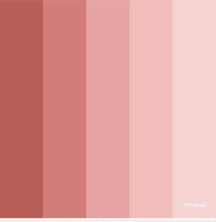 Neutral Pink And Shades Of Redwood Color Palette In 2019