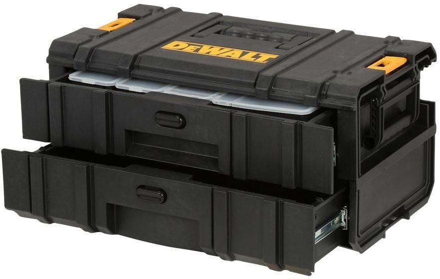 Dewalt Tough System 2 Drawer Portable Tool Box Small Parts Organizer Storage Dewalt Portable Tool Box Dewalt Tough System Small Parts Organizer