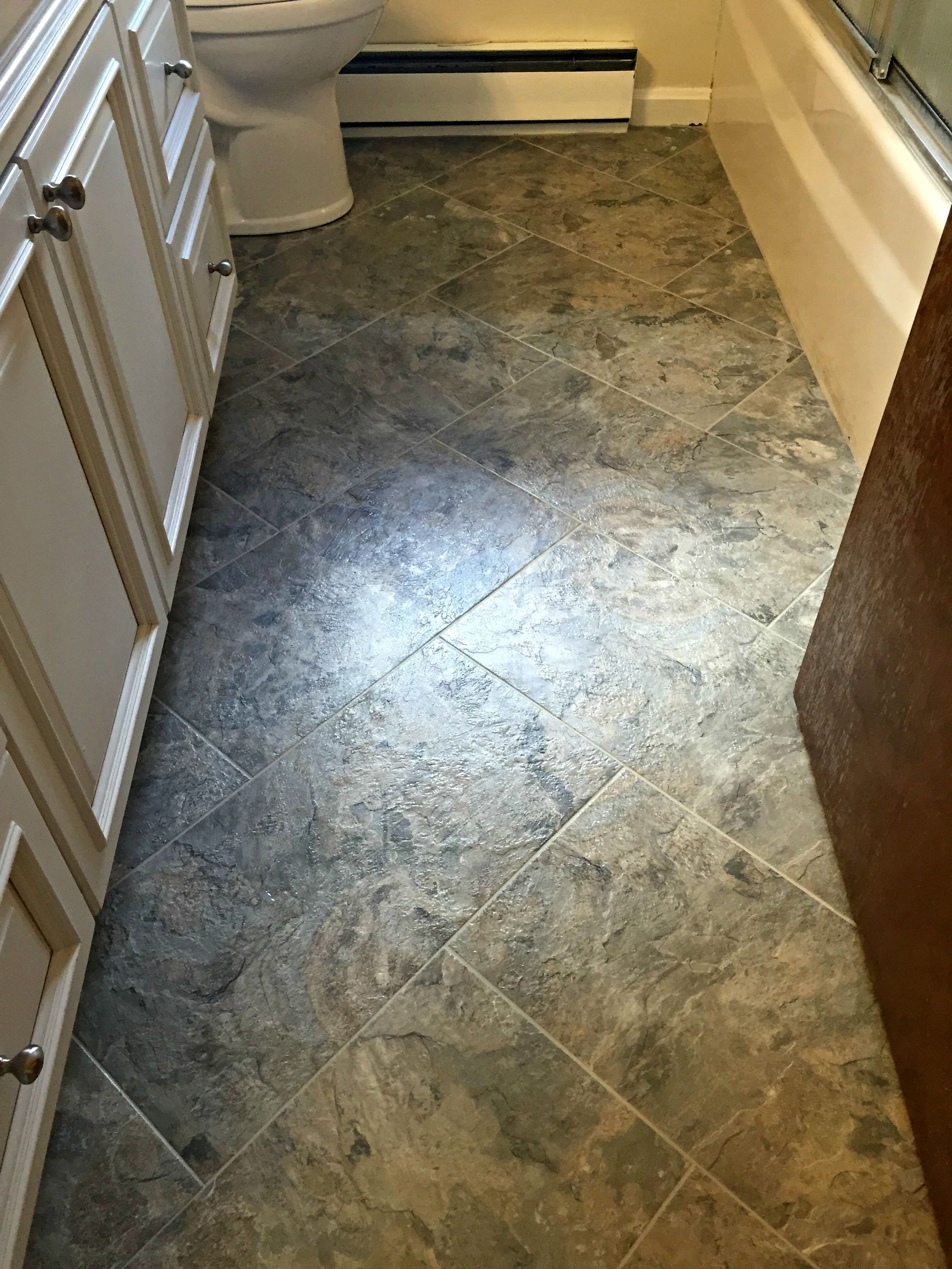 Kitchen Floor Vinyl Tiles Armstrong Luxury Vinyl Tile Lvt Brown Stone Look Entryway