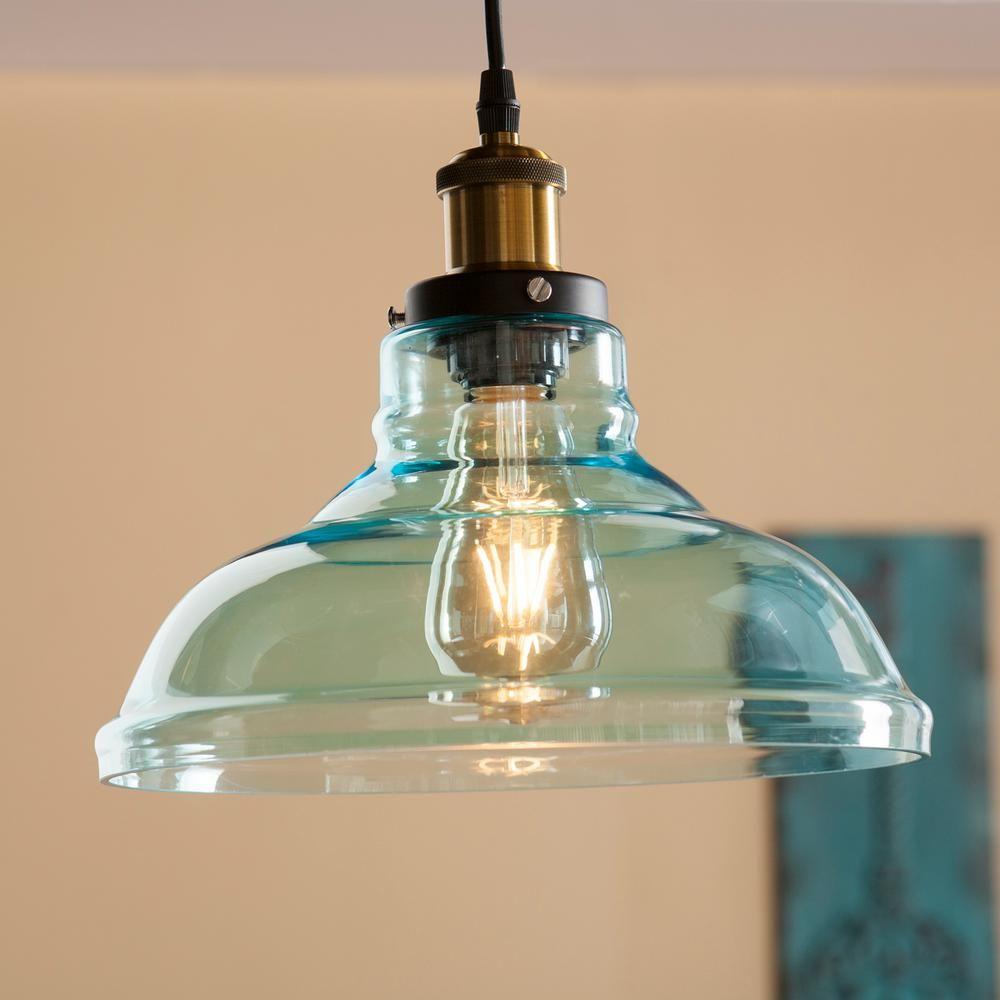 Witten 1 Light Soft Aqua Colored Glass Pendant Lamp Hd88265 Glass Pendant Lamp Pendant Lamp Pendant Light Fixtures