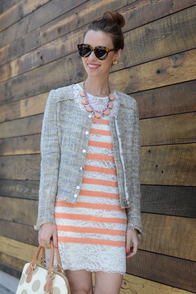 Summer Tweed ( Jackets & Striped Lace Dresses )