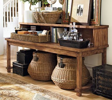 Seaton Two-Tiered Console - but check out those super cool baskets ...