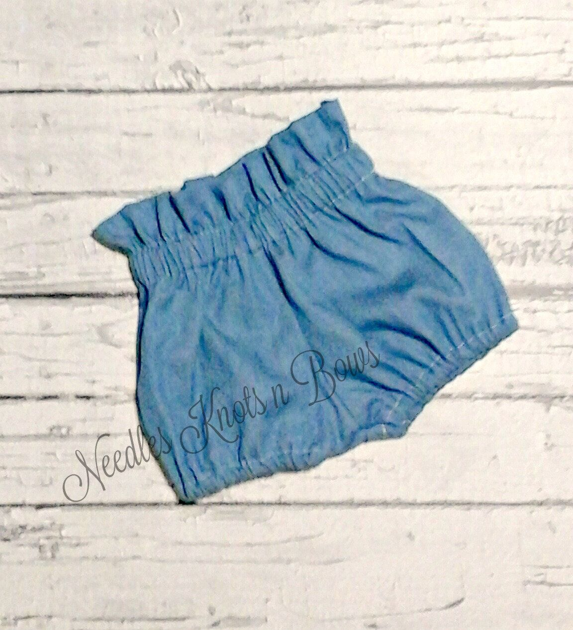 Chambray Denim Baby Girl Clothes Chambray Denim Baby Bloomers Baby Bloomers Baby Girl Clothing Baby Girl Bloomers