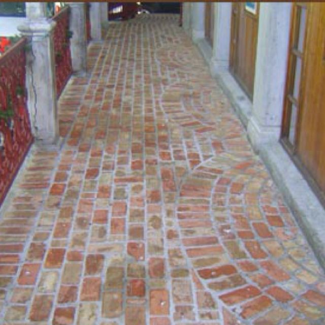 Old Chicago Brick Pavers On Porch