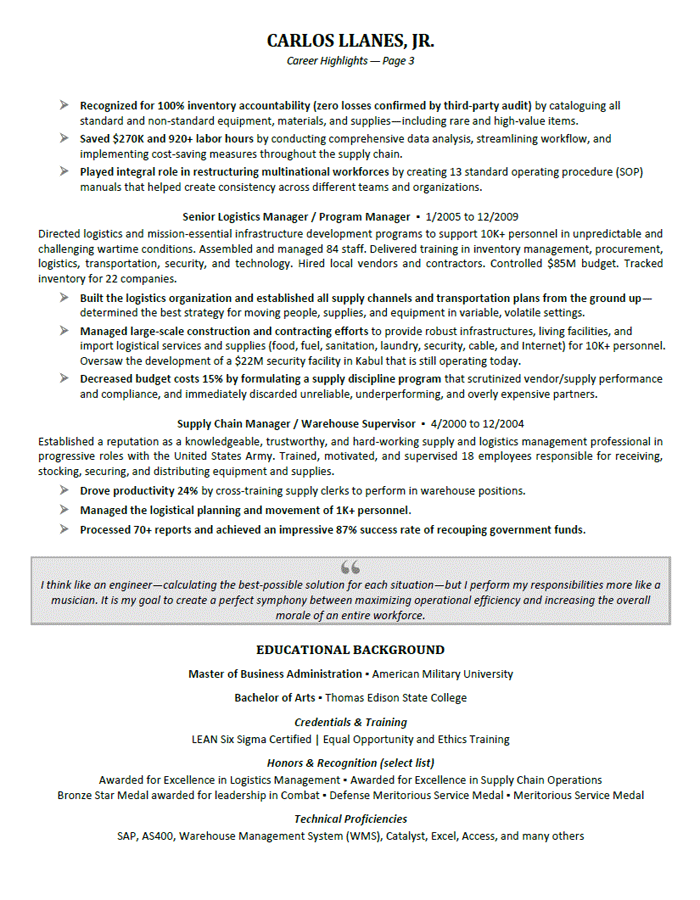 resume examples executive  with images