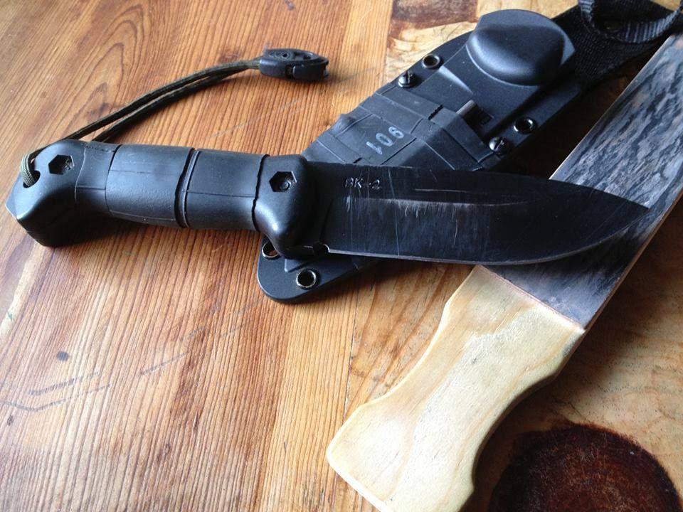 My much loved KaBar Becker BK2. I have a...a few knives LOL--But when it comes right down to it, when the proverbial SHTF, this is still the first thing I will be reaching for! If you consider yourself prepping for what may come and you do not have a REALLY good knife, if you skimped, you are behind the 8-ball! I cannot recommend a knife for survival more, not at the price point! There are lots of good knives out there, I would also personally consider a Fallkniven F1 or a GSO-5.