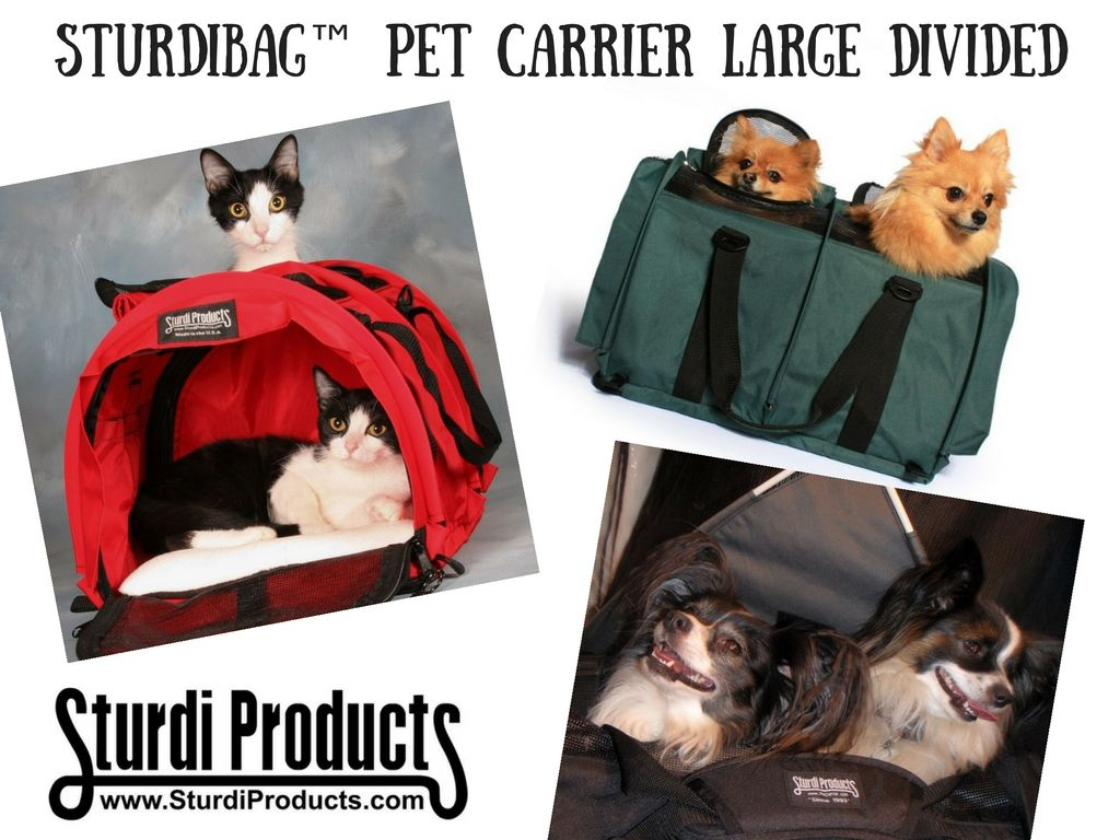 Traveling with double trouble? Don't worry - we got you covered! #SturdiBag #PetCarrier #Divided #PetTravel