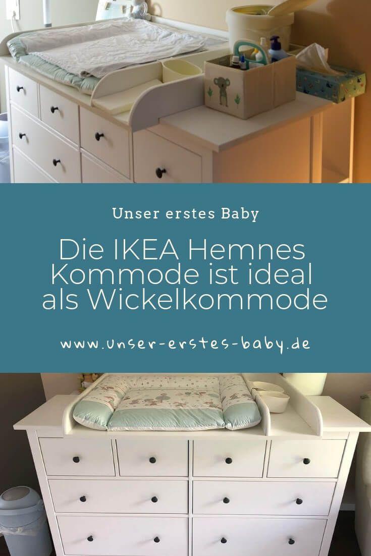 IKEA Hemnes als Wickelkommode mit Wickelaufsatz und Wickelauflage