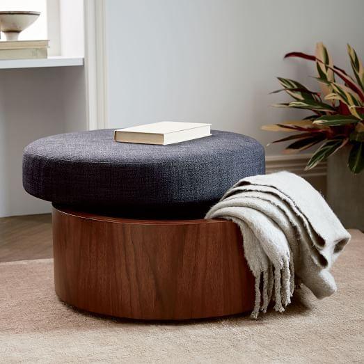 Upholstered Storage Ottoman | west elm & Storage Ottoman | Pinterest | Ottomans Storage and Living rooms