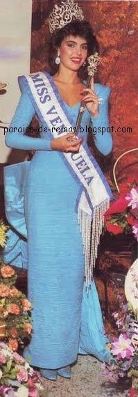 Barbara Palacios Primera Finalista en Miss Venezuela y Miss Mundo1986