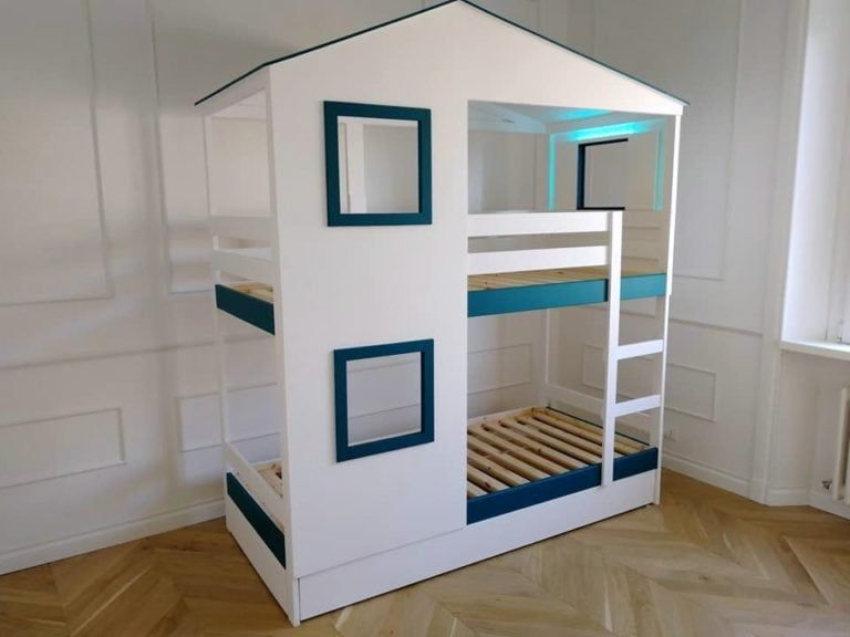 Playhouse bed for two: IKEA MYDAL hack IKEA Hackers in