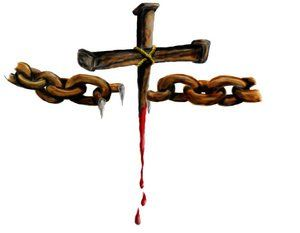 Image result for chains being broken by cross