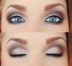 bridesmaid makeup blue eyes - Google Search   Hair. Makeup. Nails ...