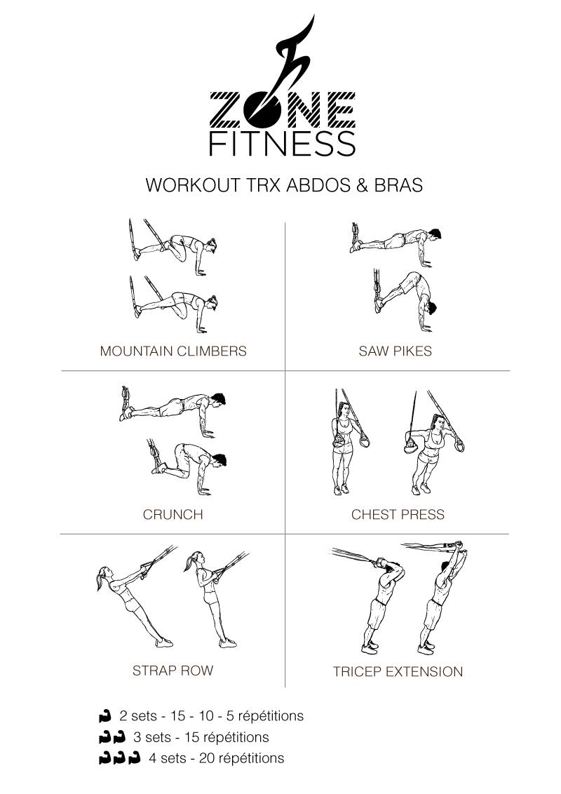 Top Workout TRX pour le haut du corps : bras et abdos | Fitness  HZ45
