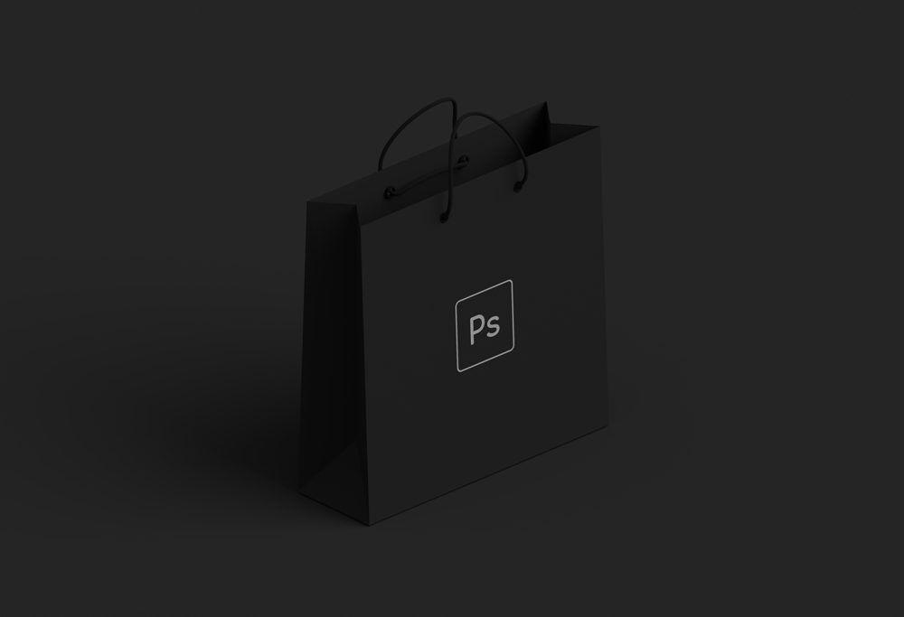 Download Black Paper Shopping Bag Mockup Bag Mockup Free Mockup Business Card Mock Up