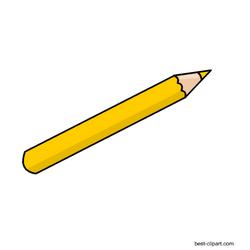 Yellow Color Pencil Free Clip Art Image Clip Art Pencil Clipart Free Clip Art