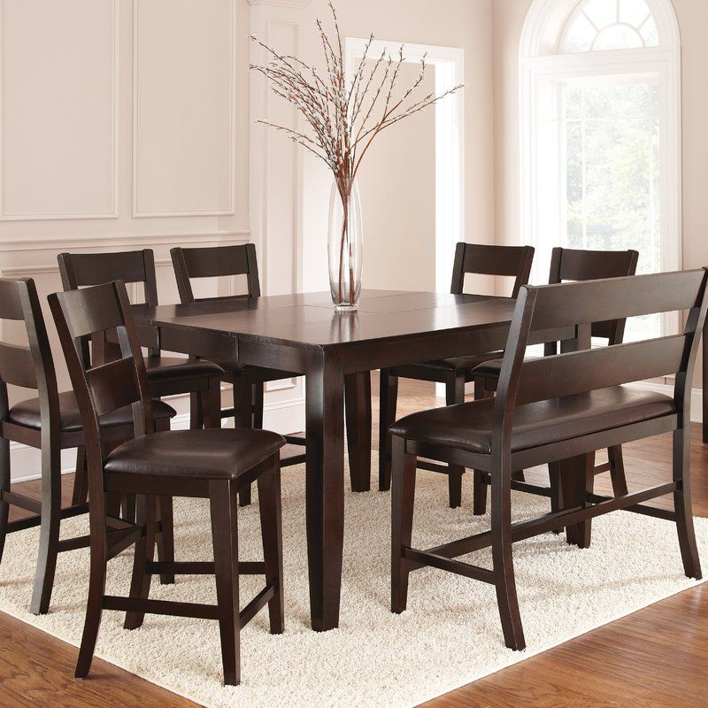 Wynwood 9 Piece Solid Wood Dining Set Solid Wood Dining Set Counter Height Dining Sets Dining Table In Kitchen