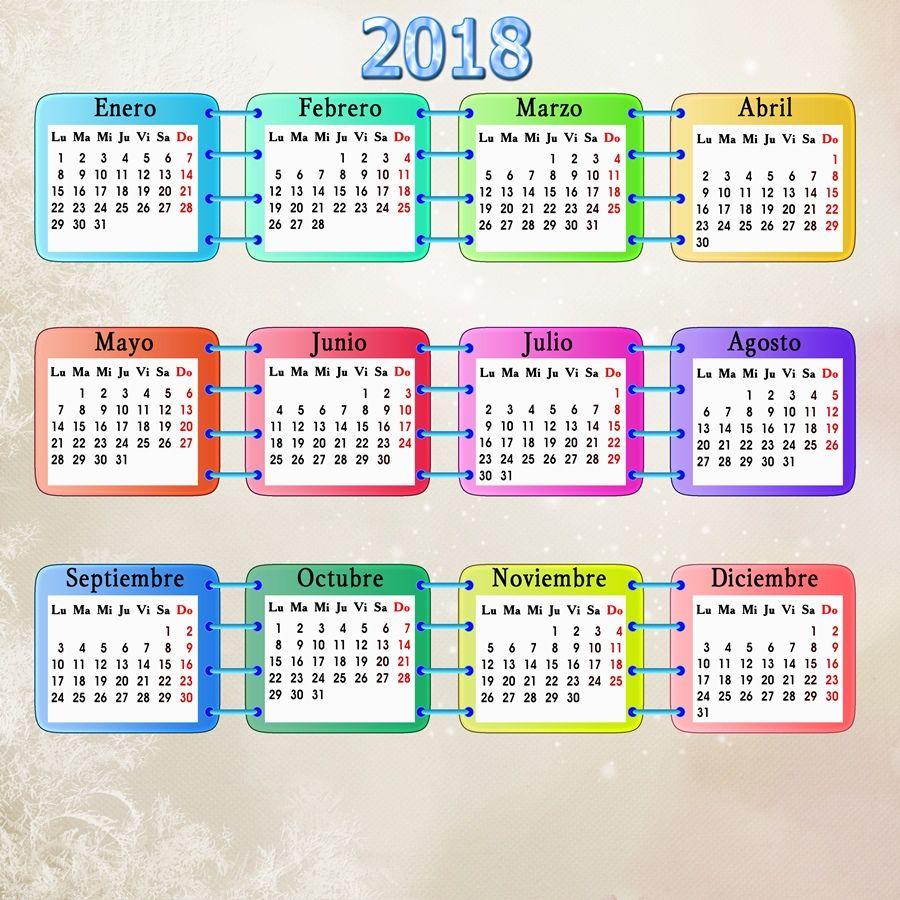 Calendarios para Photoshop: Plantilla base para calendarios del 2018 ...